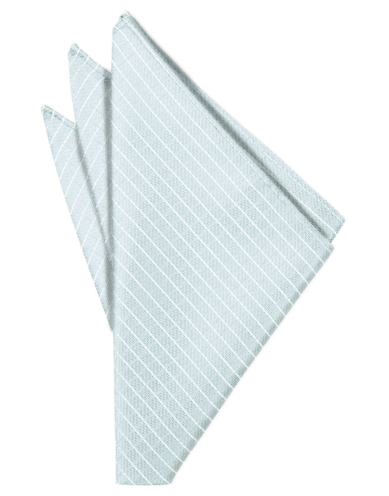 Powder Blue Palermo Pocket Square - Tuxedo Club
