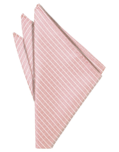 Rose Palermo Pocket Square - Tuxedo Club