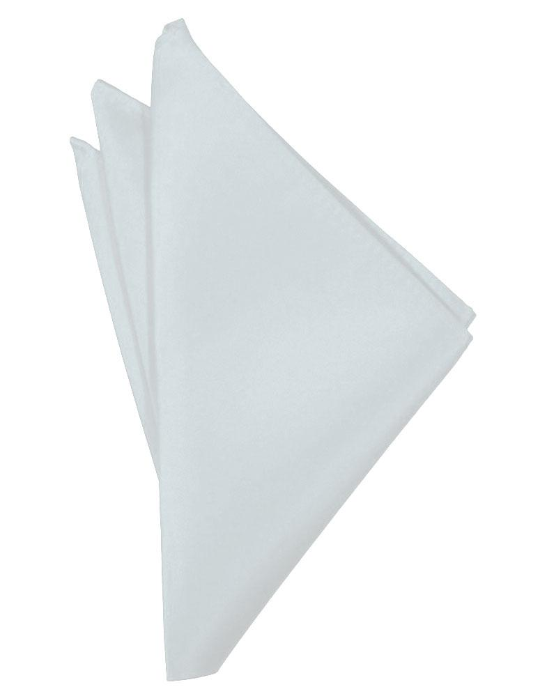 Seaglass Blue Solid Satin Pocket Square - Tuxedo Club