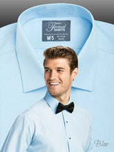 Load image into Gallery viewer, SLIMFIT Laydown Light Blue Tuxedo Shirt - Tuxedo Club