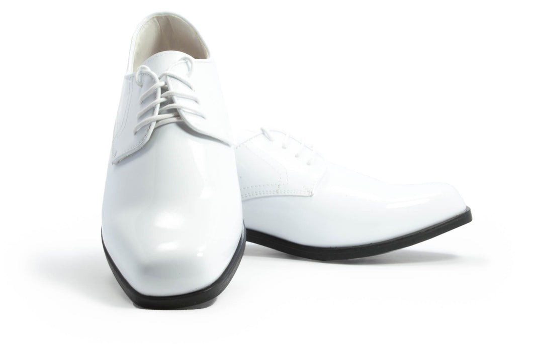 Revolution - Gloss White Tuxedo Shoes - Tuxedo Club