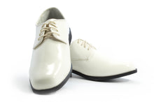 Load image into Gallery viewer, Revolution - Gloss Ivory Tuxedo Shoe - Tuxedo Club