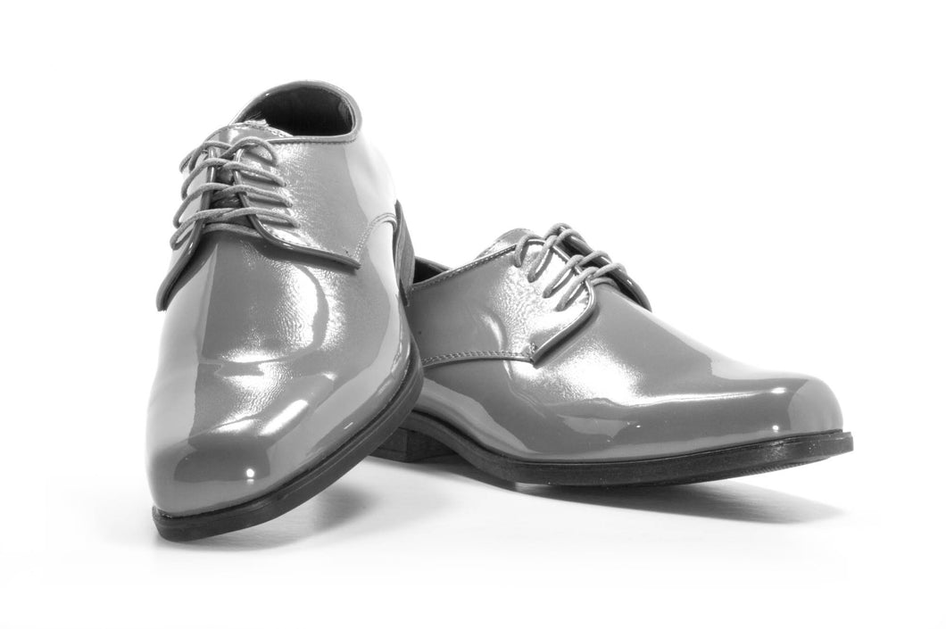 Revolution - Gloss Grey Tuxedo Shoe - Tuxedo Club