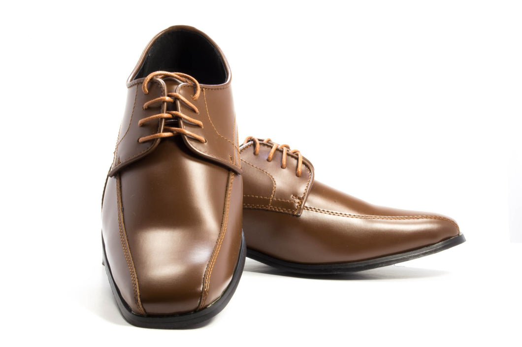 Oxford - Matte Brown Tuxedo Shoe - Tuxedo Club