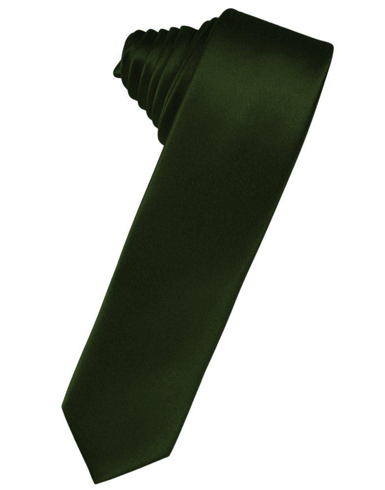 Holly Solid Satin Skinny Suit Tie - Tuxedo Club