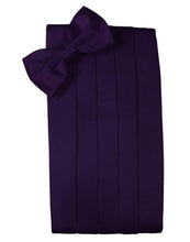 Load image into Gallery viewer, Amethyst Solid Satin Cummerbund - Tuxedo Club