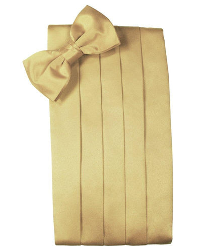 Harvest Maize Solid Satin Cummerbund - Tuxedo Club