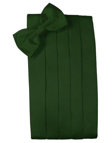 Hunter Solid Satin Cummerbund - Tuxedo Club