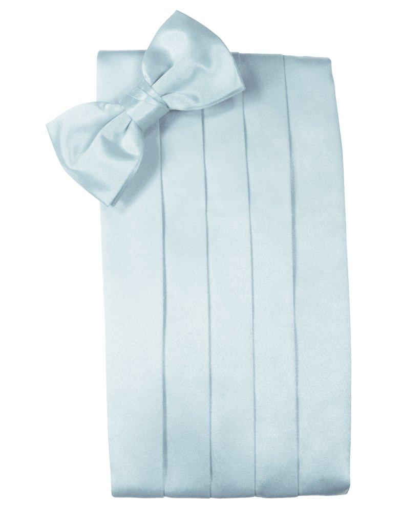Light Blue Solid Satin Cummerbund - Tuxedo Club