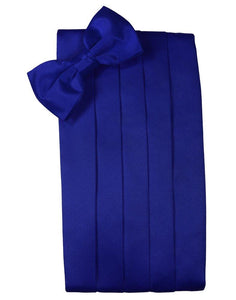 Royal Blue Solid Satin Cummerbund - Tuxedo Club