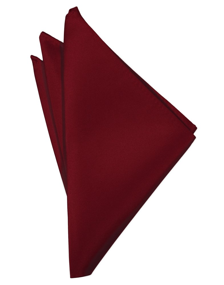 Apple Solid Satin Pocket Square - Tuxedo Club