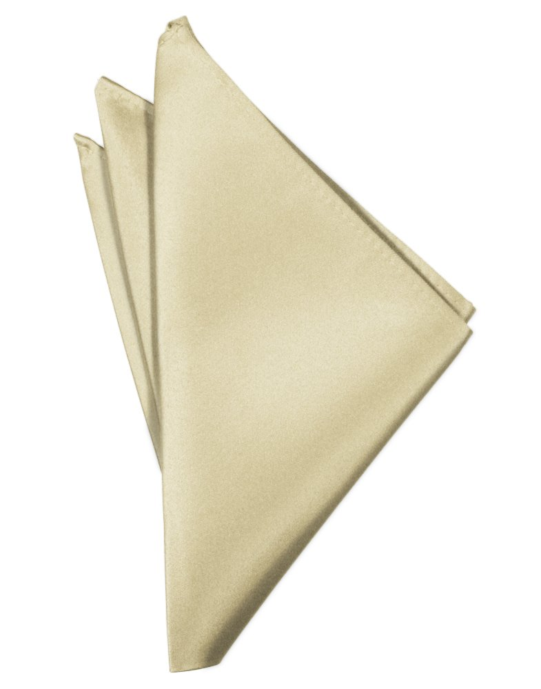 Bamboo Solid Satin Pocket Square - Tuxedo Club