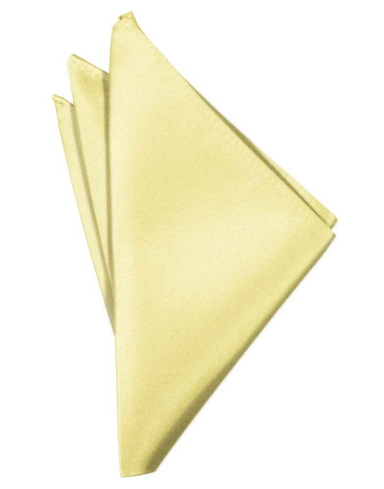 Canary Solid Satin Pocket Square - Tuxedo Club