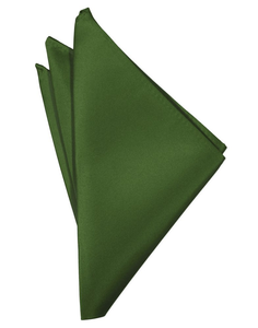Clover Solid Satin Pocket Square - Tuxedo Club