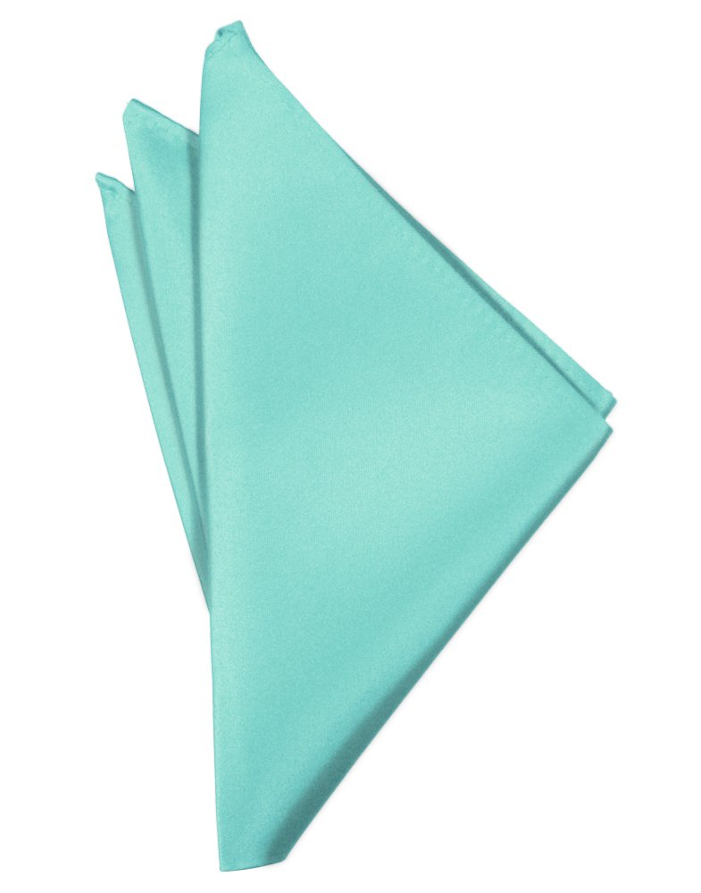 Mermaid Solid Satin Pocket Square - Tuxedo Club