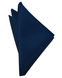 Peacock Solid Satin Pocket Square - Tuxedo Club