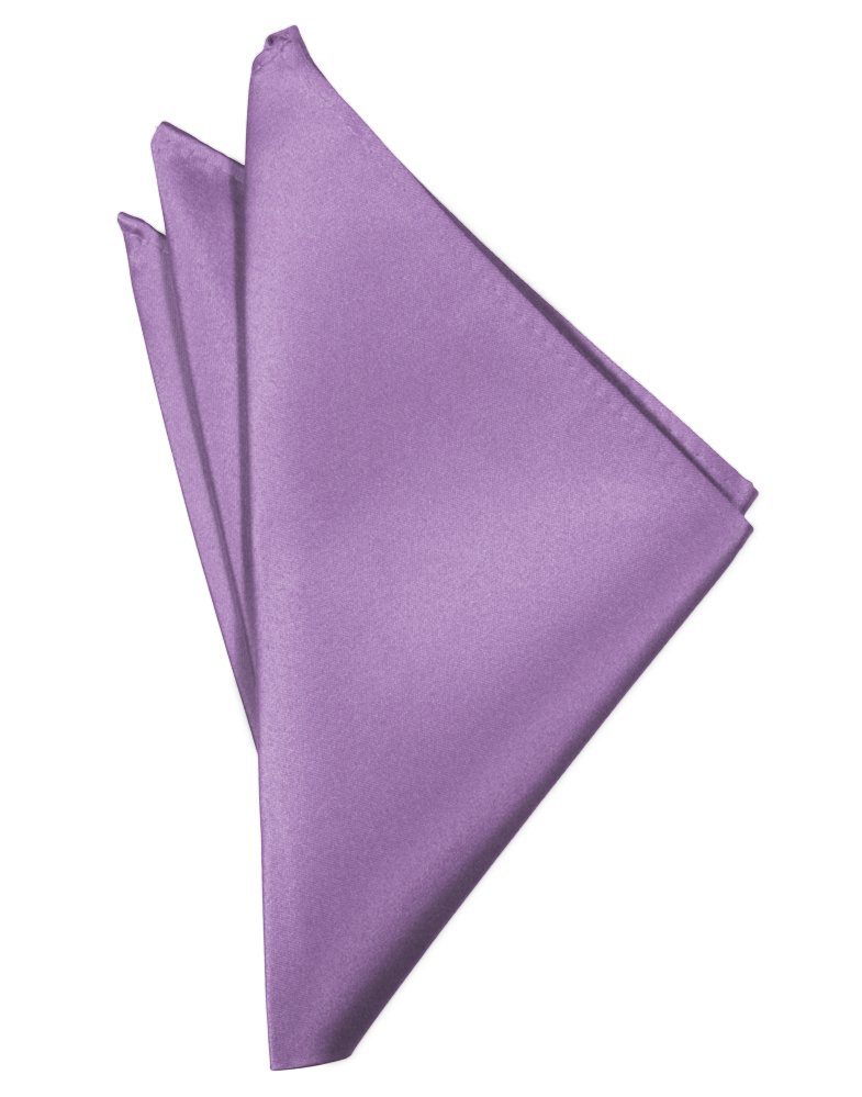 Wisteria Solid Satin Pocket Square - Tuxedo Club