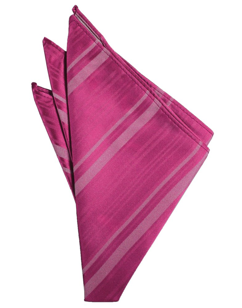 Watermelon Striped Satin Pocket Square - Tuxedo Club