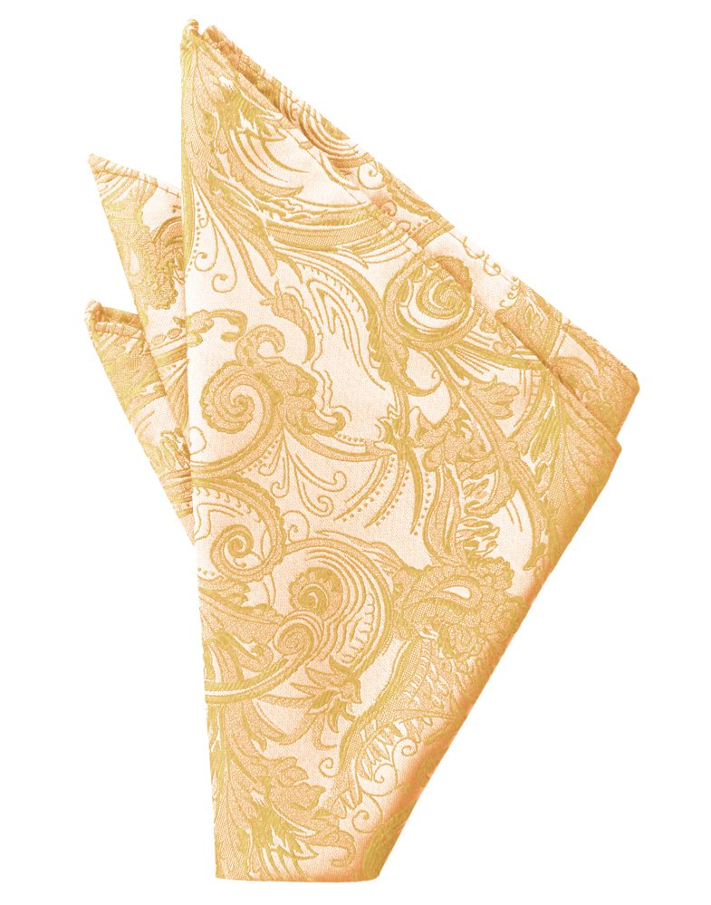 Apricot Tapestry Pocket Square - Tuxedo Club