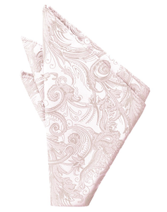 Blush Tapestry Pocket Square - Tuxedo Club