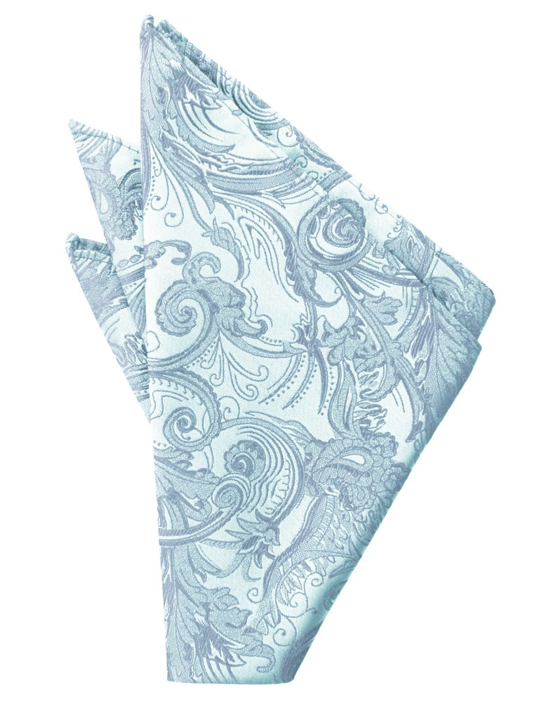 Light Blue Tapestry Pocket Square - Tuxedo Club