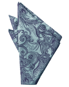 Periwinkle Tapestry Pocket Square - Tuxedo Club