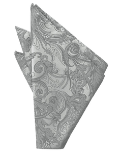 Platinum Tapestry Pocket Square - Tuxedo Club