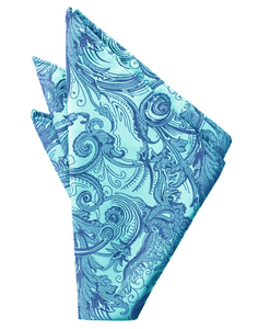 Turquoise Tapestry Pocket Square - Tuxedo Club