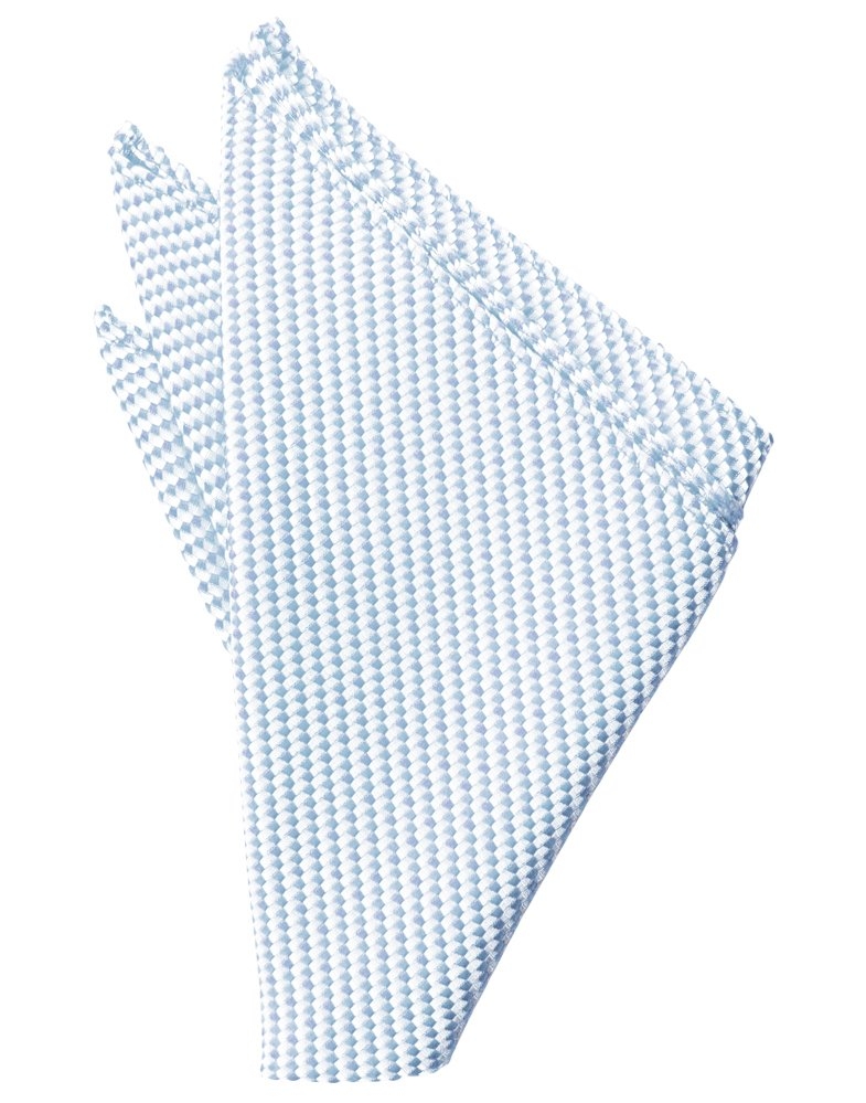 Powder Blue Venetian Pocket Square - Tuxedo Club