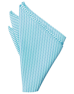 Turquoise Venetian Pocket Square - Tuxedo Club
