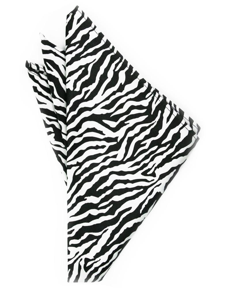 Zebra Print Pocket Square - Tuxedo Club
