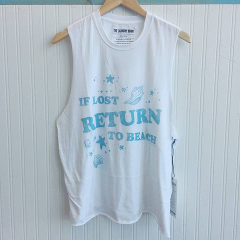 TLR Return to Beach Muscle Tee in White