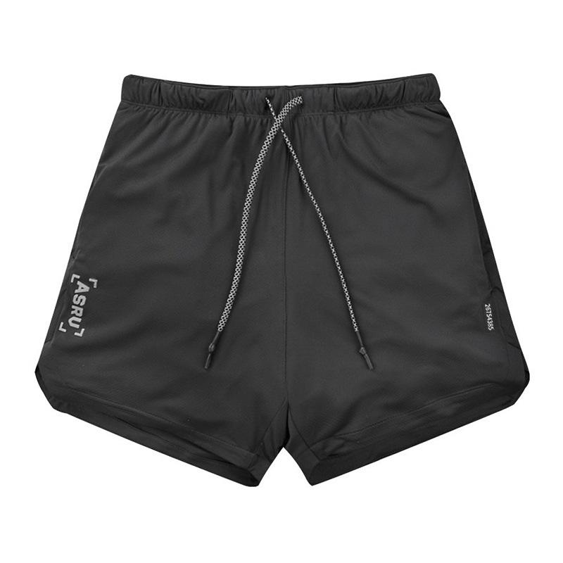 Men's 2-in-1 Bodybuilding Workout Shorts