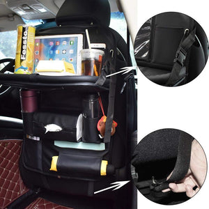 2 Pack Car Back Seat Organizer with Table Tray