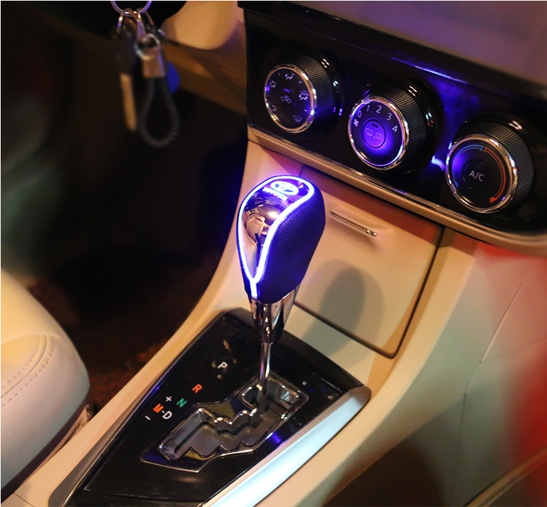 Car Sign Shift Knob - Touch Activate Multi Color Light (Five-star shop)