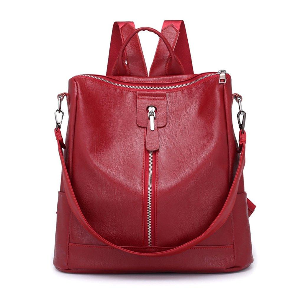 2019 New Women Soft  Leather Backpack
