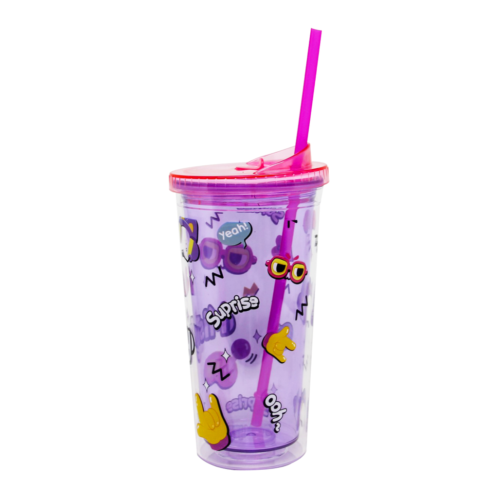 Ly ống hút 2 lớp 600ML - Mihi Mana Cup Purple - MISTHY
