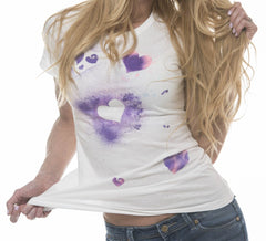 Hand painted Hearts watercolor Tee