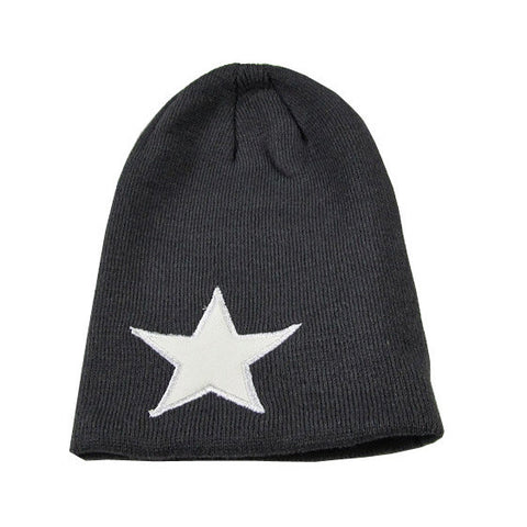 Black and white Star Beanie