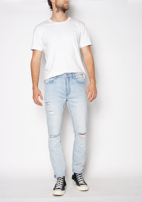 THE TAPERED SLIM JEAN - SEA BREEZE