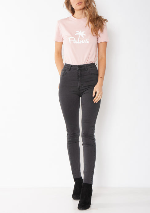 SUPER HIGH WAISTED SKINNY JEAN - WASHED BLACK