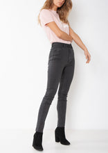 Load image into Gallery viewer, SUPER HIGH WAISTED SKINNY JEAN - WASHED BLACK
