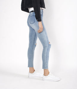 womens skinny jean with rips in the knees black palms
