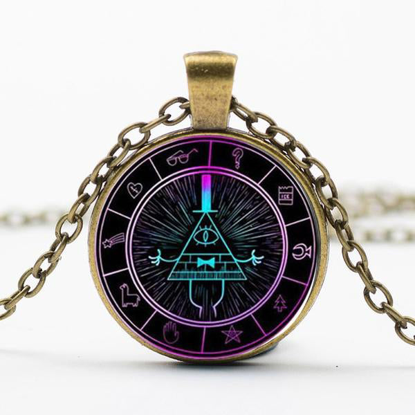 Colar - Bill Cipher - Gravity Falls - Reino Geek