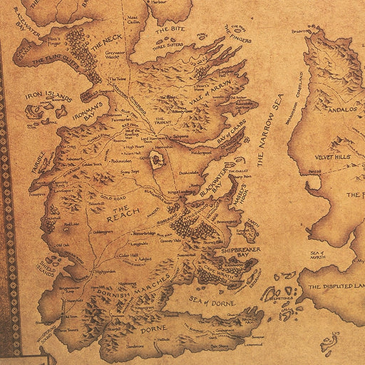 Poster - Mapa de Westeros - Game of Thrones - Reino Geek