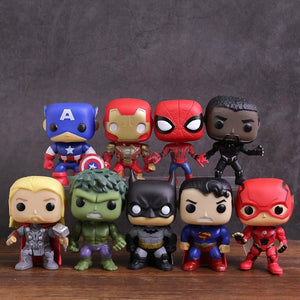 Funko POP - Marvel e DC - Kit 09 Unidades