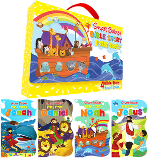 SMART BABIES-BIBLE STORY BOARD BOOKS WITH CARRY CASE