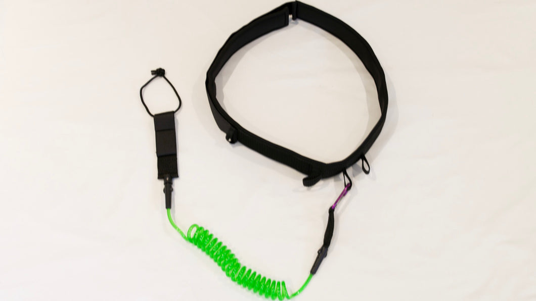 stand up paddle waist leash green