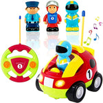 Cartoon R/C Race Car Radio Remote Control Toy for Baby