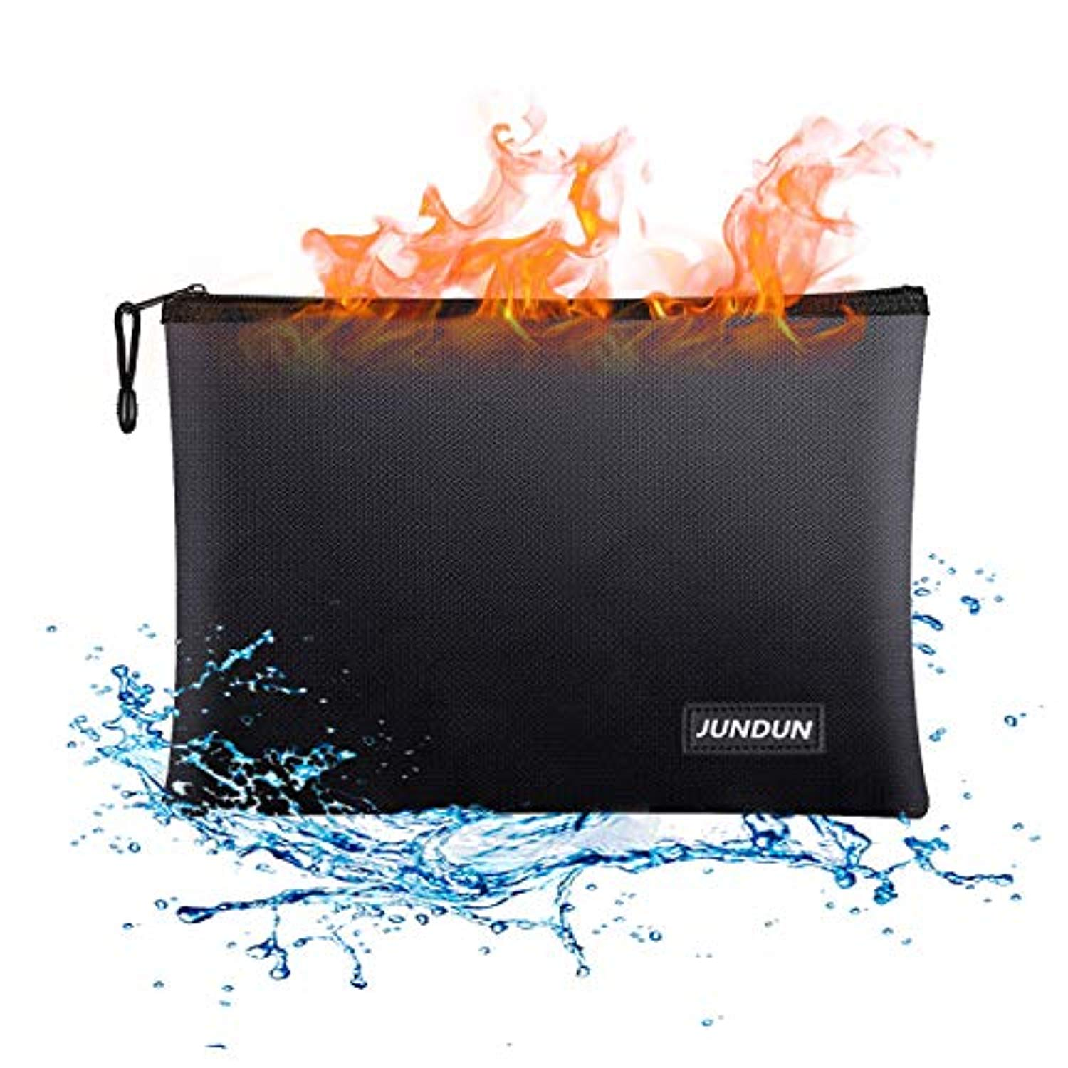 "13.4""x 9.4""Waterproof and Fireproof Storage Pouch for File,Cash and Tablet"
